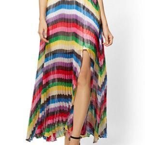 7th Avenue Women's Long Rainbow Skirt Size XL